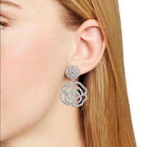 BRAND NEW KATE SPADE CRYSTAL ROSE DANGLE EARRINGS